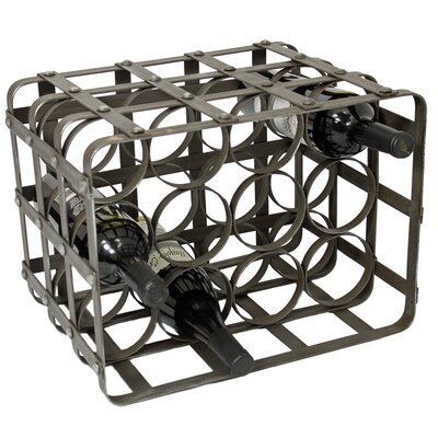 Urban Industrial 12 Bottle Tabletop Wine Rack