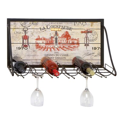 Urban Chateau La Couspaude 6 Bottle Hanging Wine Rack