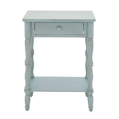 Ike 1 Drawer Nightstand Color: Baby Blue