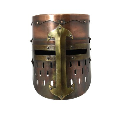 Antique Replica Medieval Armor Pot Helmet Finish: Copper