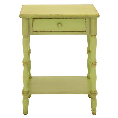 Ike 1 Drawer Nightstand Color: Green