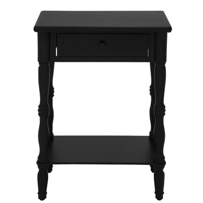 Ike 1 Drawer Nightstand Color: Black