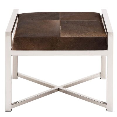 Urban Designs Leather Ottoman
