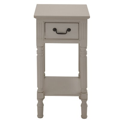 Urban Designs Lena End Table Color: Light Grey