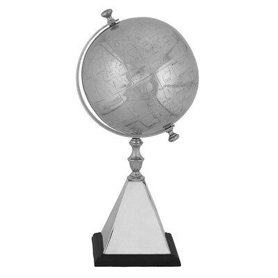 EC World Imports Mallus Classic Decorative Silver World Tabletop Globe