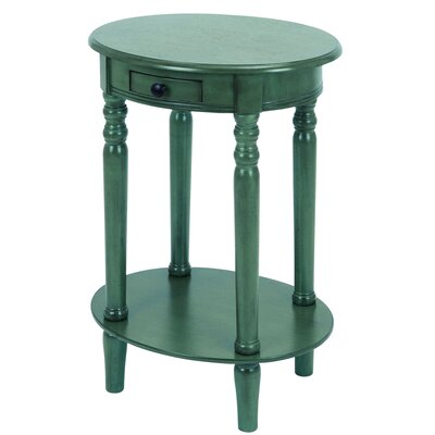 Urban Designs 1 Drawer Nightstand Color: Teal