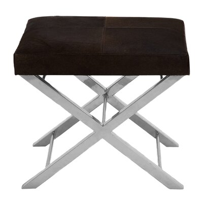 Urban Designs Leather  Ottoman Upholstery: Espresso