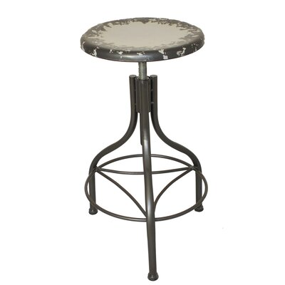 Urban Designs Adjustable Height Bar Stool Upholstery: Gray