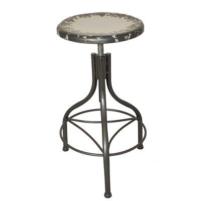 Urban Designs Adjustable Height Bar Stool Upholstery: Gray