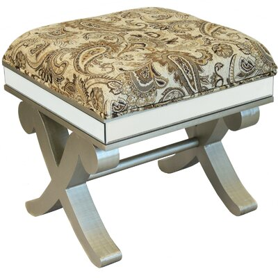 Urban Designs Wood Ottoman Stool Bench