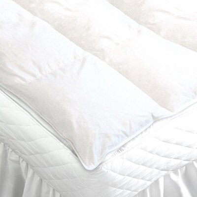 Duck Feather 233 Thread Count Mattress Topper Size: Double