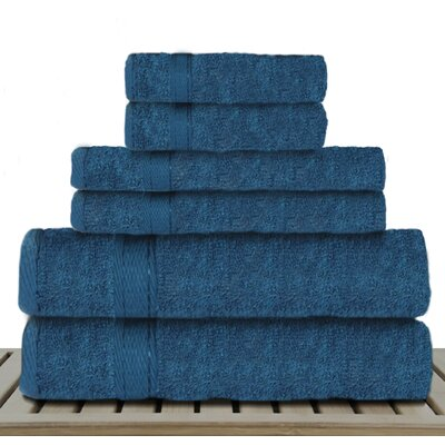 Sandra Venditti 6 Piece Rayon from Bamboo Towel Set Color: Teal