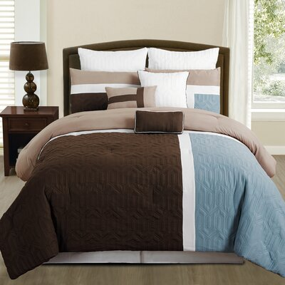Adler 8 Piece Comforter Set Size: Queen