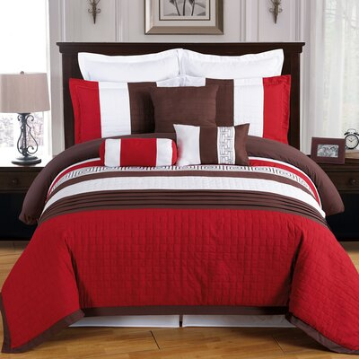 Wrigley 8 Piece Comforter Set Size: Full