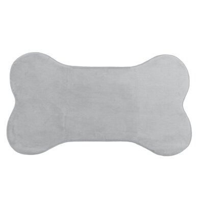 Memory Foam Dog Mat Color: Grey, Size: 42 W x 24 D