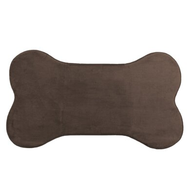 Memory Foam Dog Mat Color: Chocolate, Size: 29 W x 20 D