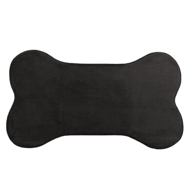 Memory Foam Dog Mat Color: Black, Size: 29 W x 20 D