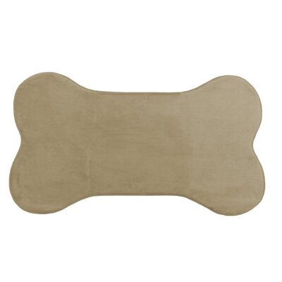 Memory Foam Dog Mat Color: Tan, Size: 42 W x 24 D