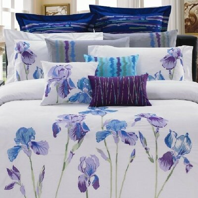 Iris 8 Piece Comforter Set Size: King