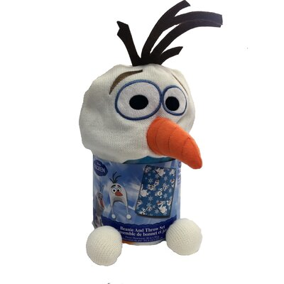 Frozen Olaf Cuddle Beanie Hat and Throw