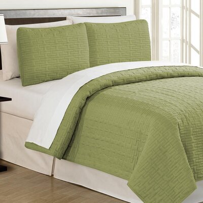 Crusoe 2 Piece Quilt Set Color: Pistachio