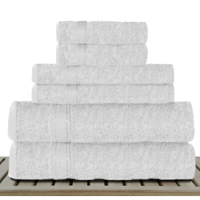 Sandra Venditti Bamboo Rayon 6 Piece Towel Set Color: White