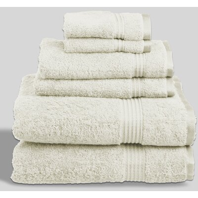 Sandra Venditti Rayon from Bamboo 6 Piece Towel Set Color: Ivory
