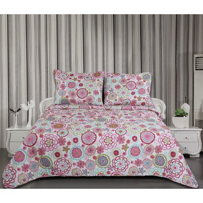 Martha 3 Piece Quilt Set Size: King