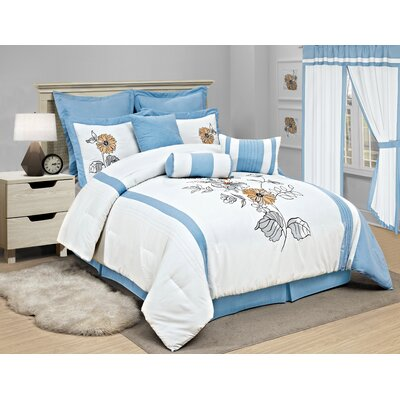 Rachel 6 Piece Comforter Set Size: Full