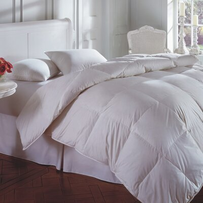 Oasis 100% Cotton Feather and Duck Down Duvet Size: Twin