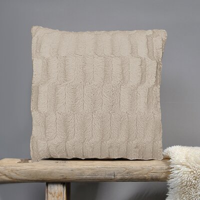 Fur Throw Pillow Fabric: Tawny