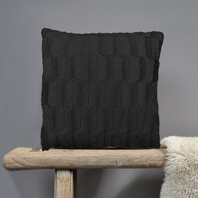 Fur Throw Pillow Fabric: Black