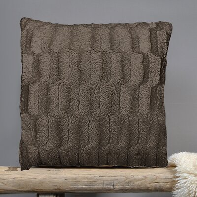 Fur Throw Pillow Fabric: Chocolate