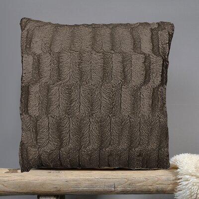 Fur Throw Pillow Fabric: Chocolate