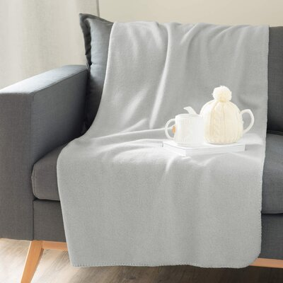 Solid Throw Blanket Color: Silver