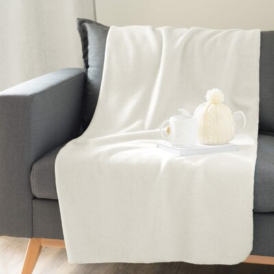 Solid Throw Blanket Color: Off White