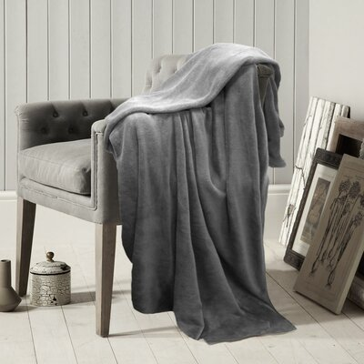 Solid Throw Blanket Color: Charcoal
