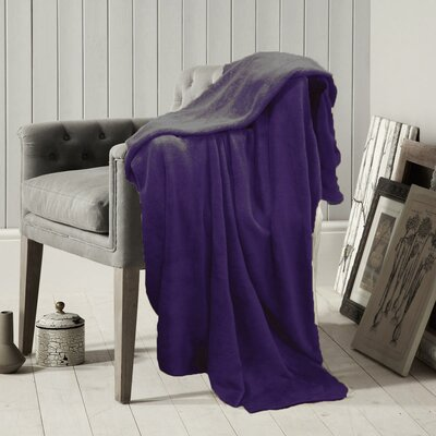 Solid Throw Blanket Color: Mauve