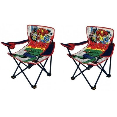 Marvel Comics Children Foldable Kids Camp Chair INI121216817349-PAIR