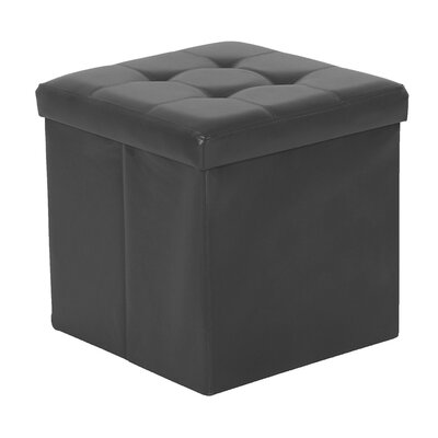 Cresskill Foldable Upholstered Ottoman Upholstery: Charcoal
