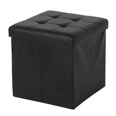Cresskill Storage Ottoman Upholstery: Black