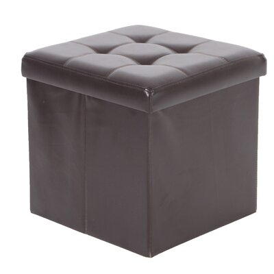 Cresskill Foldable Upholstered Ottoman Upholstery: Espresso