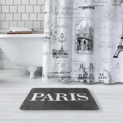 Glynn Paris Bath Rug Color: Gray