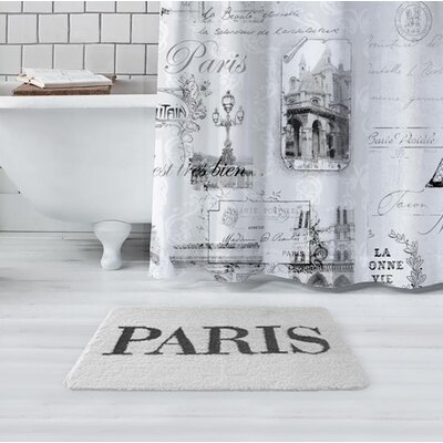 Glynn Paris Bath Rug Color: White