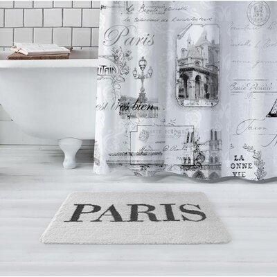 Glynn Paris Bath Rug Color: White