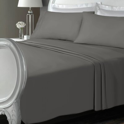Chalfont Luxury Microfiber Solid Sheet Set Size: Twin, Color: Dark Gray
