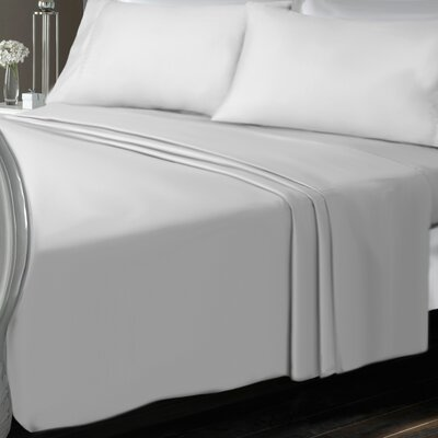 Chalfont Luxury Microfiber Solid Sheet Set Size: Twin, Color: Pure White