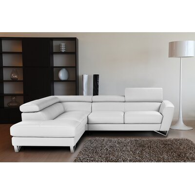 Downingtown L-Shaped Reclining Sectional Upholstery: White, Orientation: Left Hand Facing