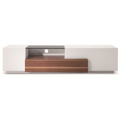 Bellefonte 70 TV Stand Color: Walnut / White
