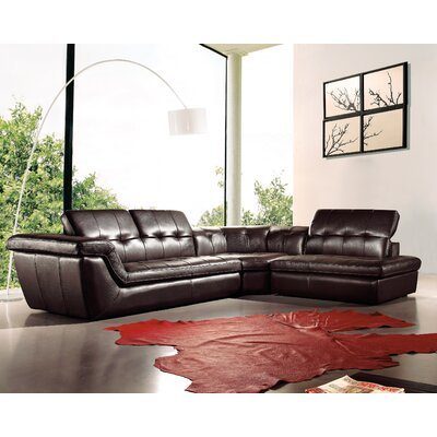 Lola Reclining Sectional Upholstery: Chocolate, Orientation: Right Hand Facing